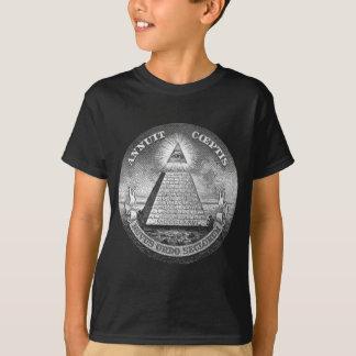 Illuminati all seeing eye Free Mason T-Shirt