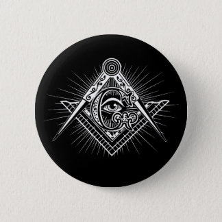 Illuminati All Seeing Eye Freemason Symbol Pinback Button