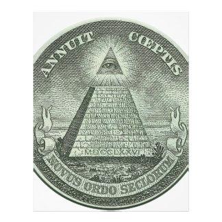 Illuminati - All seeing eye Customized Letterhead