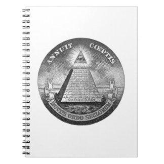 Illuminati All Seeing Eye Note Book