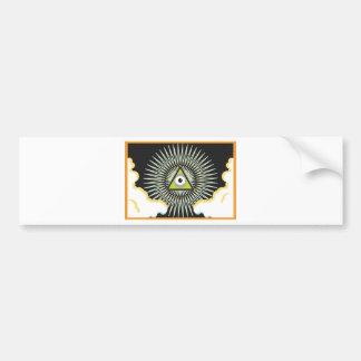 Illuminati All Seeing Eye NWO New World Order Bumper Sticker