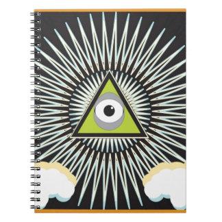 Illuminati All Seeing Eye NWO New World Order Notebook