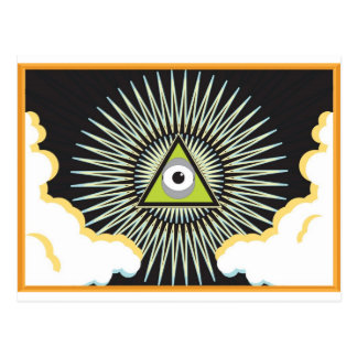 Illuminati All Seeing Eye NWO New World Order Postcard