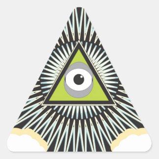 Illuminati All Seeing Eye NWO New World Order Triangle Sticker
