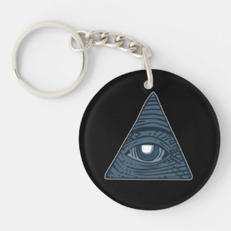 Illuminati All Seeing Eye Pyramid Symbol Keychain