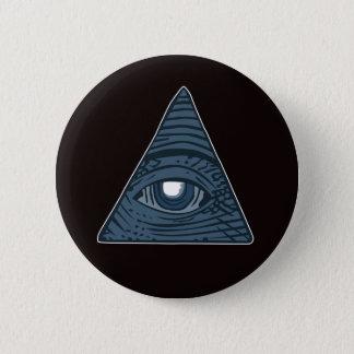 Illuminati All Seeing Eye Pyramid Symbol Pinback Button