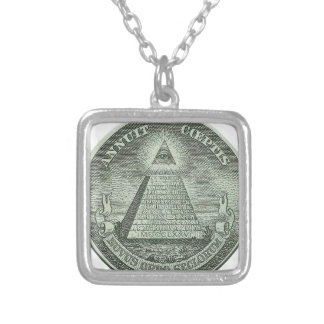 Illuminati - All seeing eye Silver Plated Necklace