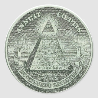 Illuminati - All seeing eye Round Sticker