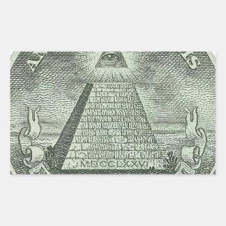 Illuminati - All seeing eye Rectangular Stickers