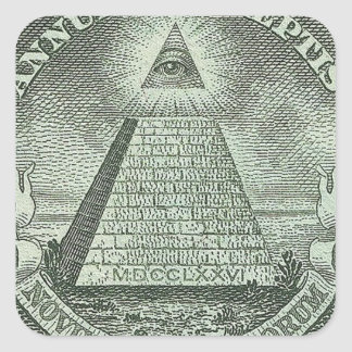 Illuminati - All seeing eye Square Stickers