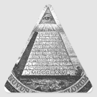 Illuminati All Seeing Eye Triangle Sticker