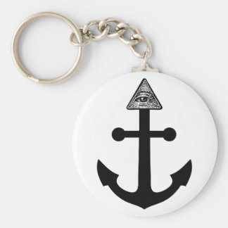 Illuminati Anchor Keychain