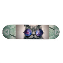 illuminati and galaxy cat skateboard deck