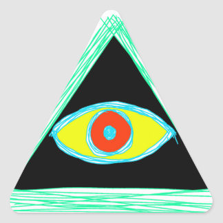 Illuminati aseado pegatina triangular