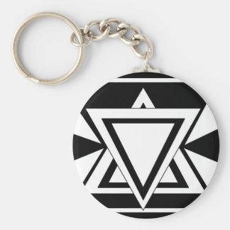 Illuminati Basic Round Button Keychain