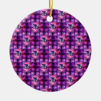 illuminati cat Double-Sided ceramic round christmas ornament
