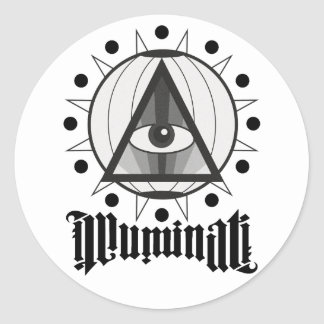 Illuminati Classic Round Sticker