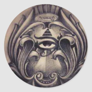illuminati classic round sticker