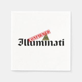 Illuminati Confirmed Standard Cocktail Napkin