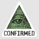 Illuminati Confirmed Sticker Pegatina Triangular