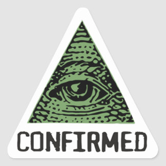 Illuminati Confirmed stings Triangle Sticker