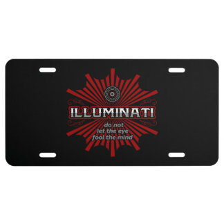 Illuminati Don't Let The Eye Fool The Mind License Plate