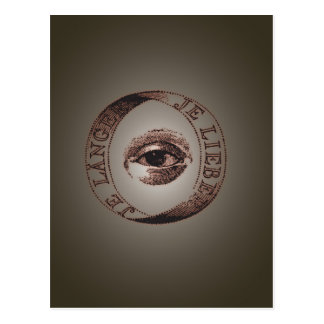 Illuminati eye postcard