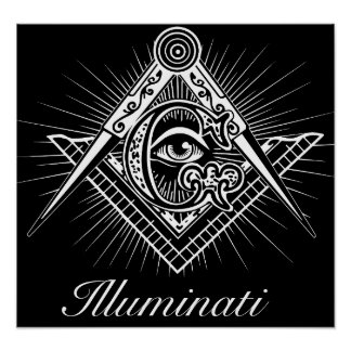 Illuminati Freemason All Seeing Eye Poster