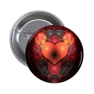Illuminati Heart 2 Inch Round Button