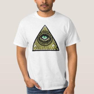 Illuminati Hipster Reptilian Eye Pyramid T-shirts