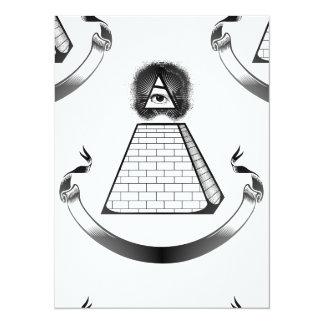 """illuminati invitación 5.5"""" x 7.5"""""""
