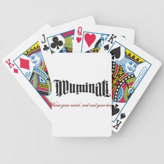 Illuminati le quiere baraja de cartas bicycle