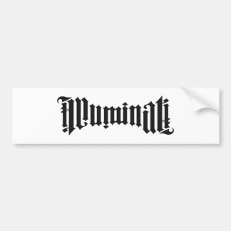 Illuminati Logo Bumper Sticker