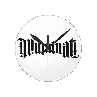 Illuminati Logo Round Wallclocks