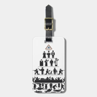 Illuminati luggage strap with tag bag tag