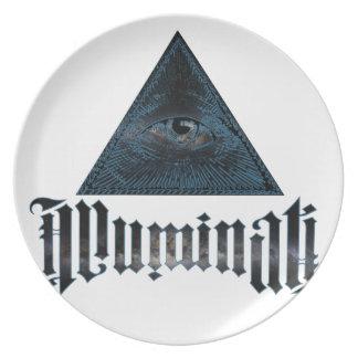 Illuminati Melamine Plate