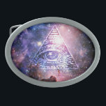 "Illuminati nebula oval belt buckle<br><div class=""desc"">Hello and welcome,  this  design was realized by myself. 