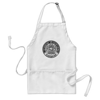 Illuminati - On A Bended Knee Is No Way To Be Free Adult Apron