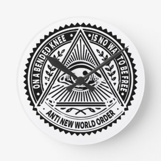 Illuminati - On A Bended Knee Is No Way To Be Free Round Clock
