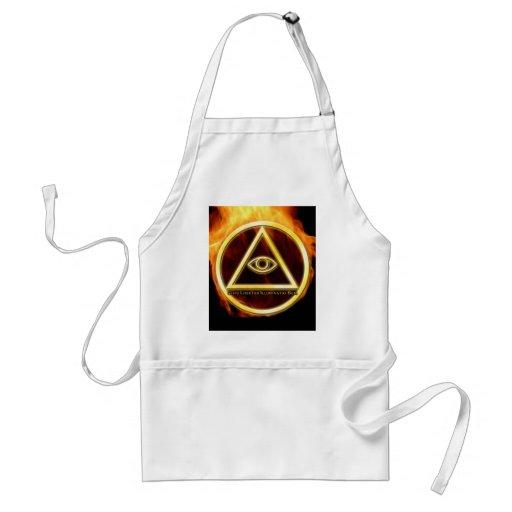 Illuminati on Fire Adult Apron