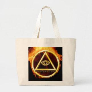 Illuminati on Fire Jumbo Tote Bag