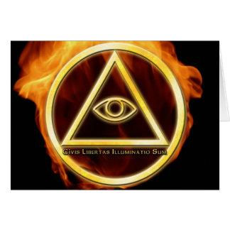 Illuminati on Fire Greeting Card