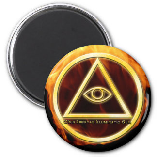 Illuminati on Fire Magnet