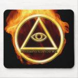 Illuminati on Fire Mouse Pad