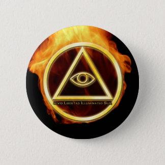 Illuminati on Fire Pinback Button