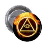 Illuminati on Fire Pinback Buttons