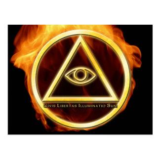 Illuminati on Fire Postcard