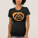 Illuminati on Fire T Shirt
