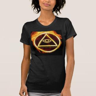 Illuminati on Fire T-shirts