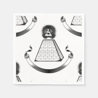illuminati paper napkins